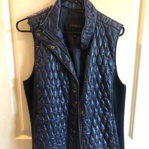 Talbots Navy Blue Vest